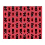 Red Cat Paw Pattern Throw Blanket