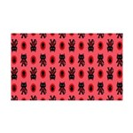 Red Cat Paw Pattern 35x21 Wall Decal