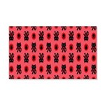 Red Cat Paw Pattern 20x12 Wall Decal
