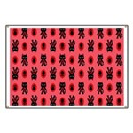 Red Cat Paw Pattern Banner