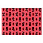 Red Cat Paw Pattern Large Poster
