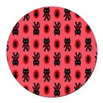 Red Cat Paw Pattern Round Car Magnet