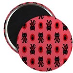 Red Cat Paw Pattern 2.25