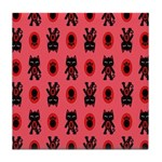 Red Cat Paw Pattern Tile Coaster
