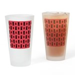 Red Cat Paw Pattern Drinking Glass
