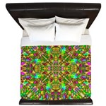 Yellow Mandala Pattern King Duvet