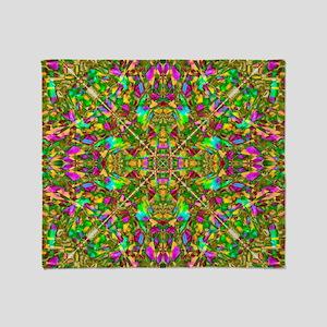 Yellow Mandala Pattern Throw Blanket