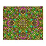 Yellow Mandala Pattern Throw Blanket