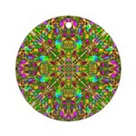 Yellow Mandala Pattern Ornament (Round)