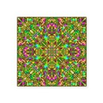 Yellow Mandala Pattern Square Sticker 3