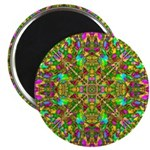Yellow Mandala Pattern Magnet