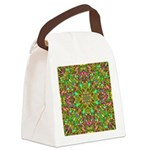 Yellow Mandala Pattern Canvas Lunch Bag