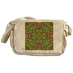 Yellow Mandala Pattern Messenger Bag