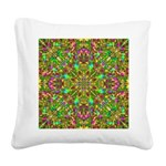 Yellow Mandala Pattern Square Canvas Pillow
