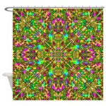 Yellow Mandala Pattern Shower Curtain