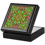 Yellow Mandala Pattern Keepsake Box