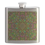 Yellow Mandala Pattern Flask