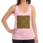 Yellow Mandala Pattern Racerback Tank Top