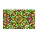 Yellow Mandala Pattern 35x21 Wall Decal