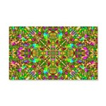 Yellow Mandala Pattern 20x12 Wall Decal