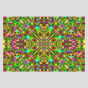Yellow Mandala Pattern Large Poster