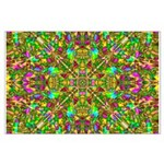 Yellow Mandala Pattern Large Poster