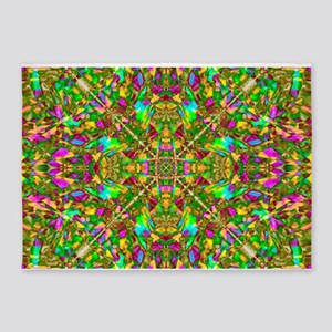 Yellow Mandala Pattern 5'x7'Area Rug