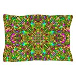 Yellow Mandala Pattern Pillow Case