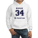 Rule 34 Collegiate Shirt - No exceptions Hoodie