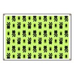 Green Cat Paw Pattern Banner