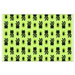 Green Cat Paw Pattern Large Poster