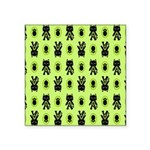 Green Cat Paw Pattern Square Sticker 3