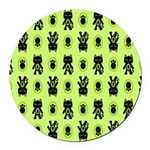 Green Cat Paw Pattern Round Car Magnet