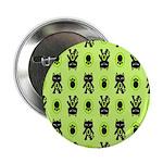 Green Cat Paw Pattern 2.25