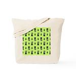 Green Cat Paw Pattern Tote Bag