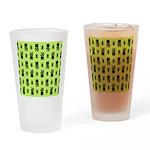 Green Cat Paw Pattern Drinking Glass