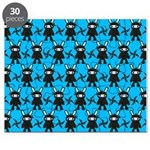 Turquoise Ninja Bunny Pattern Puzzle