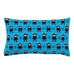 Turquoise Ninja Bunny Pattern Pillow Case