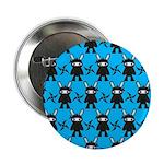 Turquoise Ninja Bunny Pattern 2.25