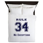 Rule 34 Collegiate Shirt - No exceptions Queen Duv