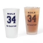 Rule 34 Collegiate Shirt - No exceptions Drinking