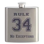 Rule 34 Collegiate Shirt - No exceptions Flask