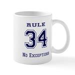 Rule 34 Collegiate Shirt - No exceptions Mug