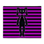 Goth Pink and Black Bunny Throw Blanket