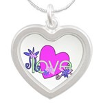 Love Gifts Silver Heart Necklace
