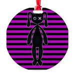 Goth Pink and Black Bunny Ornament