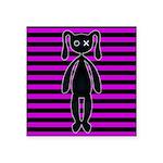 Goth Pink and Black Bunny Sticker