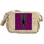 Goth Pink and Black Bunny Messenger Bag