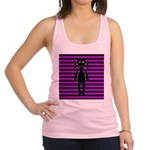 Goth Pink and Black Bunny Racerback Tank Top