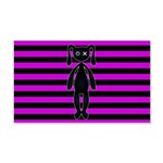 Goth Pink and Black Bunny Wall Decal